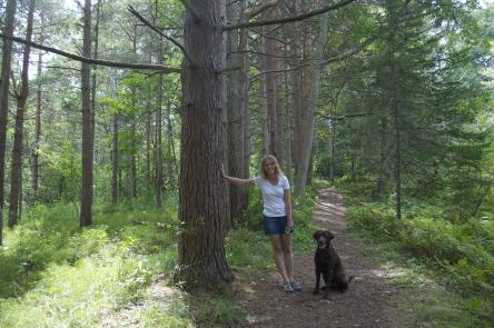 Hiking the the Acadia University forest